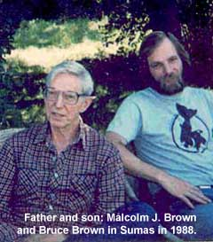 Professor Malcolm J. Brown with his son, Bruce Brown, Sumas, WA, July 1988