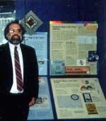 "Bruce Kratofil at the Smithsonian Institution's Museum of American History in Washington, DC, with BugNet's ""Windows 95 Bug Collection"""