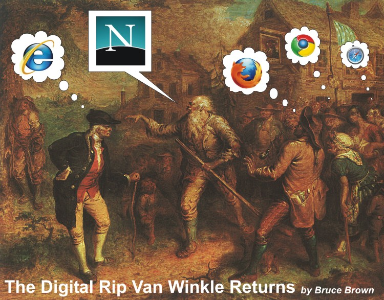 """The Digital Rip Van Winkle Returns"" by Bruce Brown"