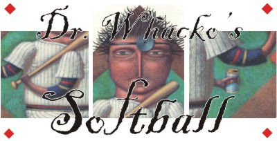 """Dr. Whacko's Guide To Slow-pitch Softball"" by Bruce Brown on Astonisher.com"