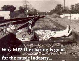 """Why MP3 file sharing is good"" by Bruce Brown"