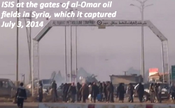 al-Omar oil fields in Syria