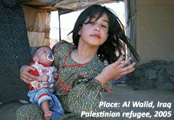 Palestinian refugee at al Walid, Iraq