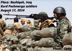 Peshmerga at Bashiqah, Iraq