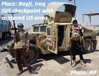ISIS checkpoint at Baiji, Iraq