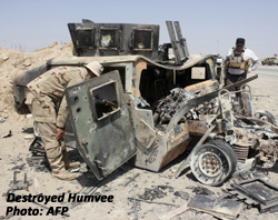 Destroyed Humvee