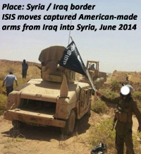 ISIS moving captured American equipment from Iraq to Syria