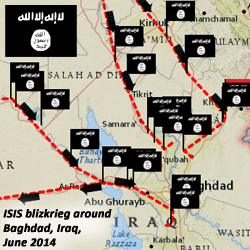 ISIS blitzkrieg map
