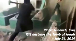 ISIS destroys the Tomb of Jonah, Nineveh Iraq