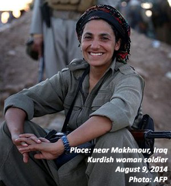 Kurdish woman soldier