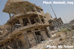 Ramadi, Iraq, in ruins