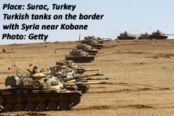Turkish tanks near Surac