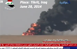 Heavy fighting around Tikrit, Iraq, between ISIS and the Iraqi Army June 28, 2014