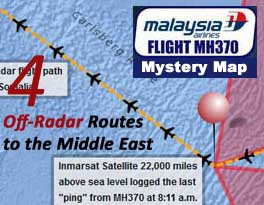 Malaysia Airlines Flight MH370 Mystery Map