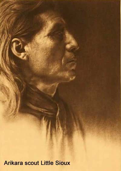 Arikara scout Little Sioux by Edward S. Curtis