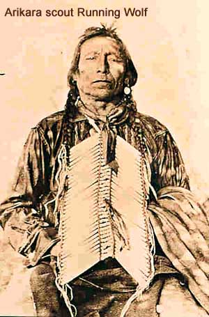 Arikara scout Running Wolf, who survived the Battle of the Little Bighorn