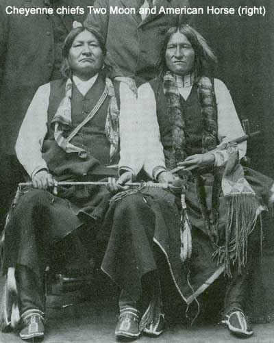 Cheyenne chiefs Two Moon and American Horse