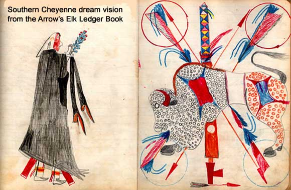 Southern Cheyenne dream vision from the Arrow's Elk Ledger Book