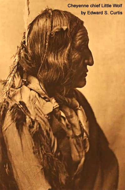 Cheyenne chief Little Wolf by Edward S. Curtis