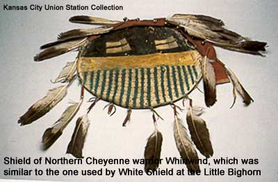 Shield of Northern Cheyenne warrior Whirlwind