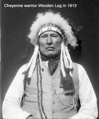 Cheyenne warrior Wooden Leg in 1913