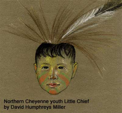 Northern Cheyenne youth Little Chief by David Humphreys Miller
