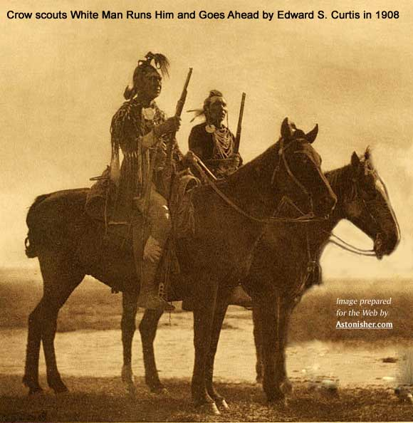 Crow scouts White Man Runs Him and Curley by Edward S. Curtis in 1908