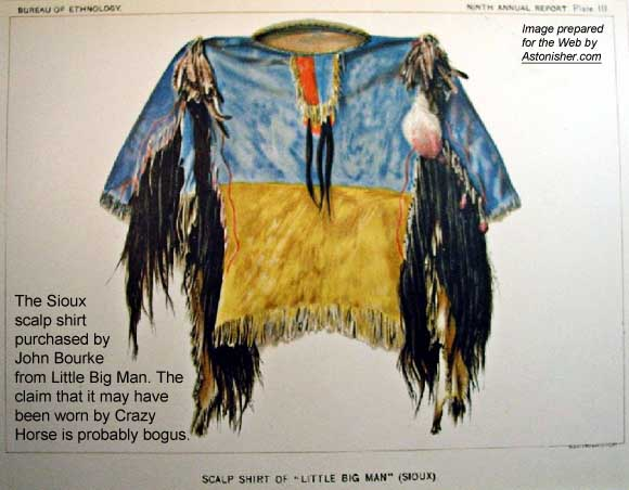 Sioux scalp shirt purechased by John Bourke from Little Big Man