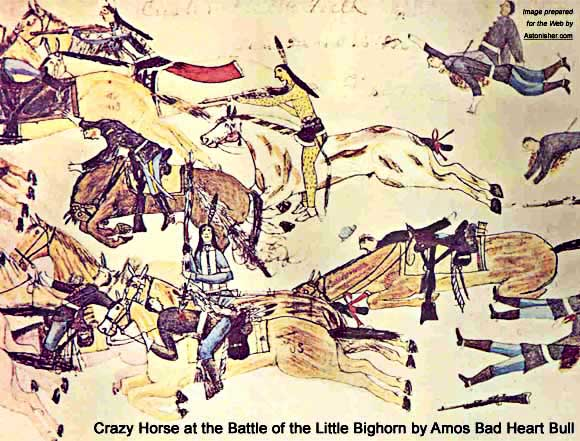Crazy Horse at the Little Big Horn by Amos Bad Heart Bull