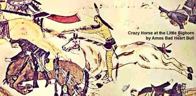 Crazy Horse at the Little Bighorn by Amos Bad heart Bull (cropped)
