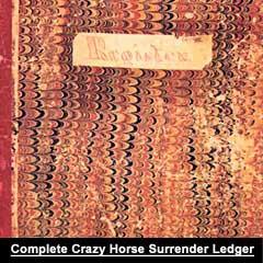 """The Complete Crazy Horse Surrender Ledger"" by Bruce Brown on Astonisher.com"