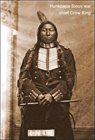 Hunkpapa Sioux war chief Crow King