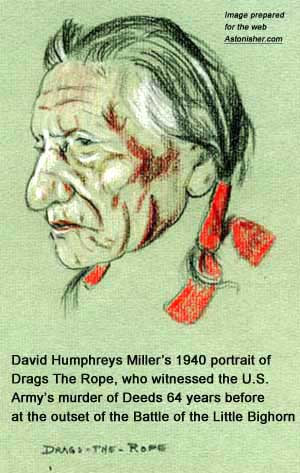 David Humphrey Miller's 1940 portrait of Sioux warrior Drags The Rope