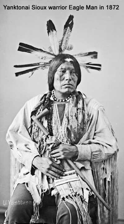 Yanktonai Sioux warrior Eagle Man in 1872
