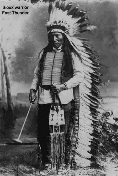 Sioux warrior Fast Thunder