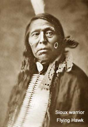 Sioux warrior Flying Hawk