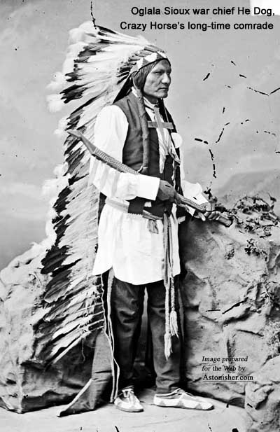 Oglala Sioux war chief He Dog, Crazy Horse's longtime lieutenant