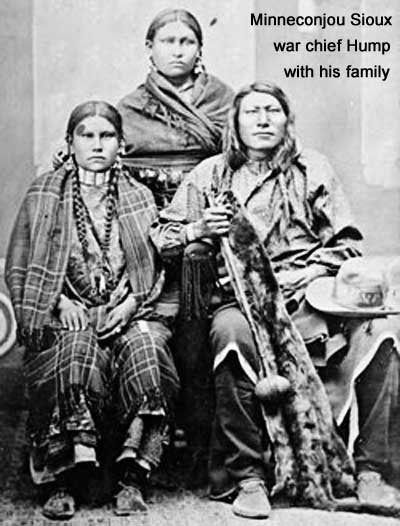 Minneconjou Sioux war chief Hump and his family