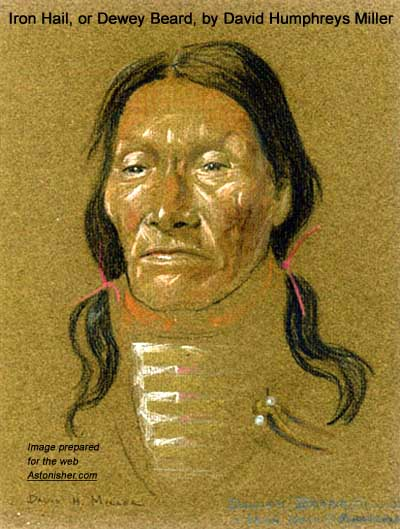 David Humphrey Miller's portrait of Sioux warrior Iron Hail (Dewey Beard)