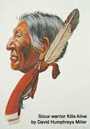 David Humphrey Miller's portrait of Sioux warrior Kills Alive