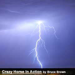 """Crazy Horse In Action"" by Bruce Brown on Astonisher.com"
