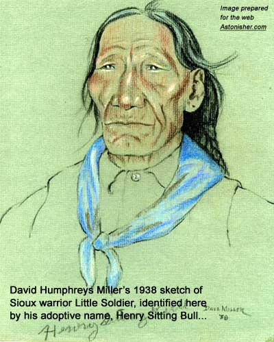 David Humphreys Miller's 1938 portrait of Sioux warrior Little Soldier