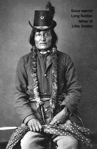 Sioux warrior Long Soldier, father of Little Soldier