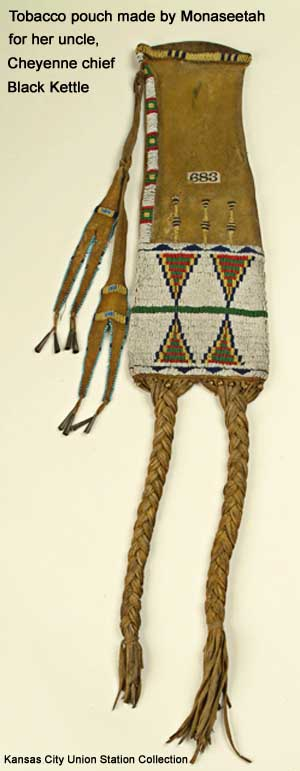 Tobacco pouch made by Monasetah before 1869 for her uncle, Black Kettle