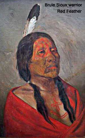 Brule Sioux warrior Red Feather in 1902