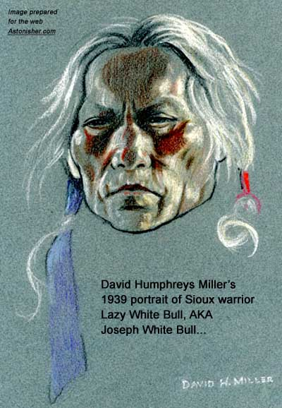 David Humphrey Miller's 1940 portrait of Sioux youth Blue Arm