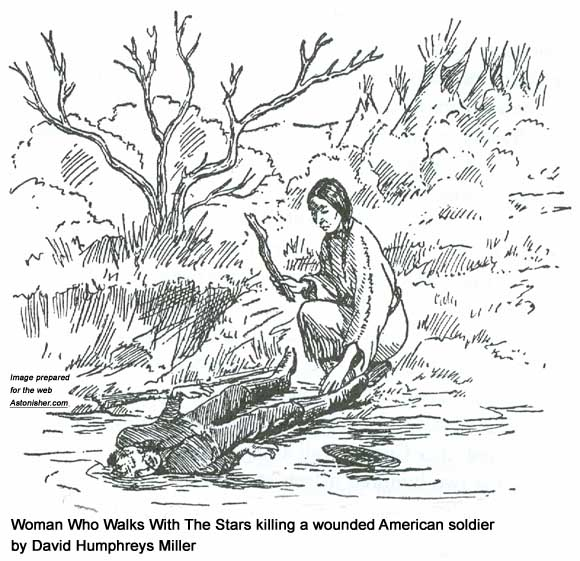 Woman Who Walks With The Stars killing a wounder American soldier by David Humphreys Miller