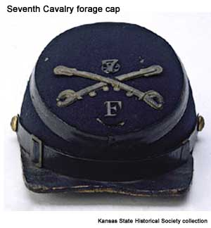 7th Cavalry forage cap, front view