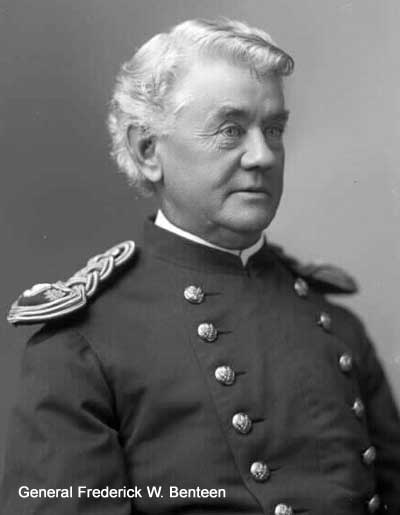Capt. Frederick W. Benteen, called by many the bravest American at the Battle of the Little Bighorn