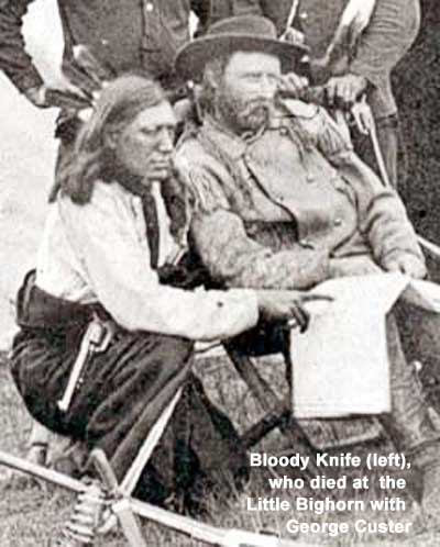 Bloody Knife and George a. Custer in the Black Hills